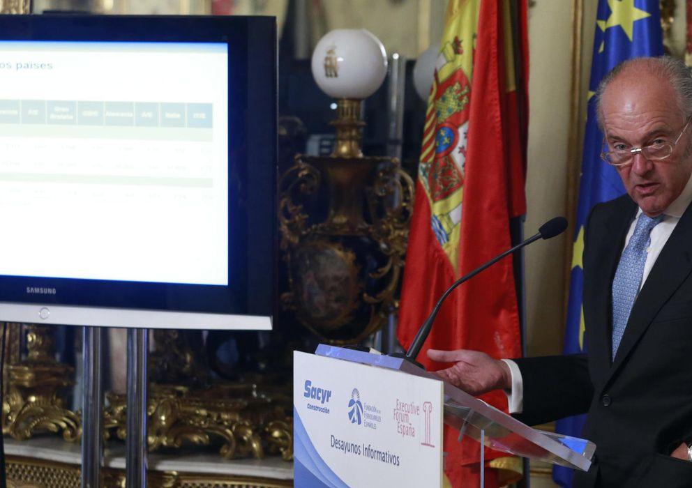 Foto: El presidente de Adif, Gonzalo Ferre, durante un desayuno informativo en el Forum España (Efe).