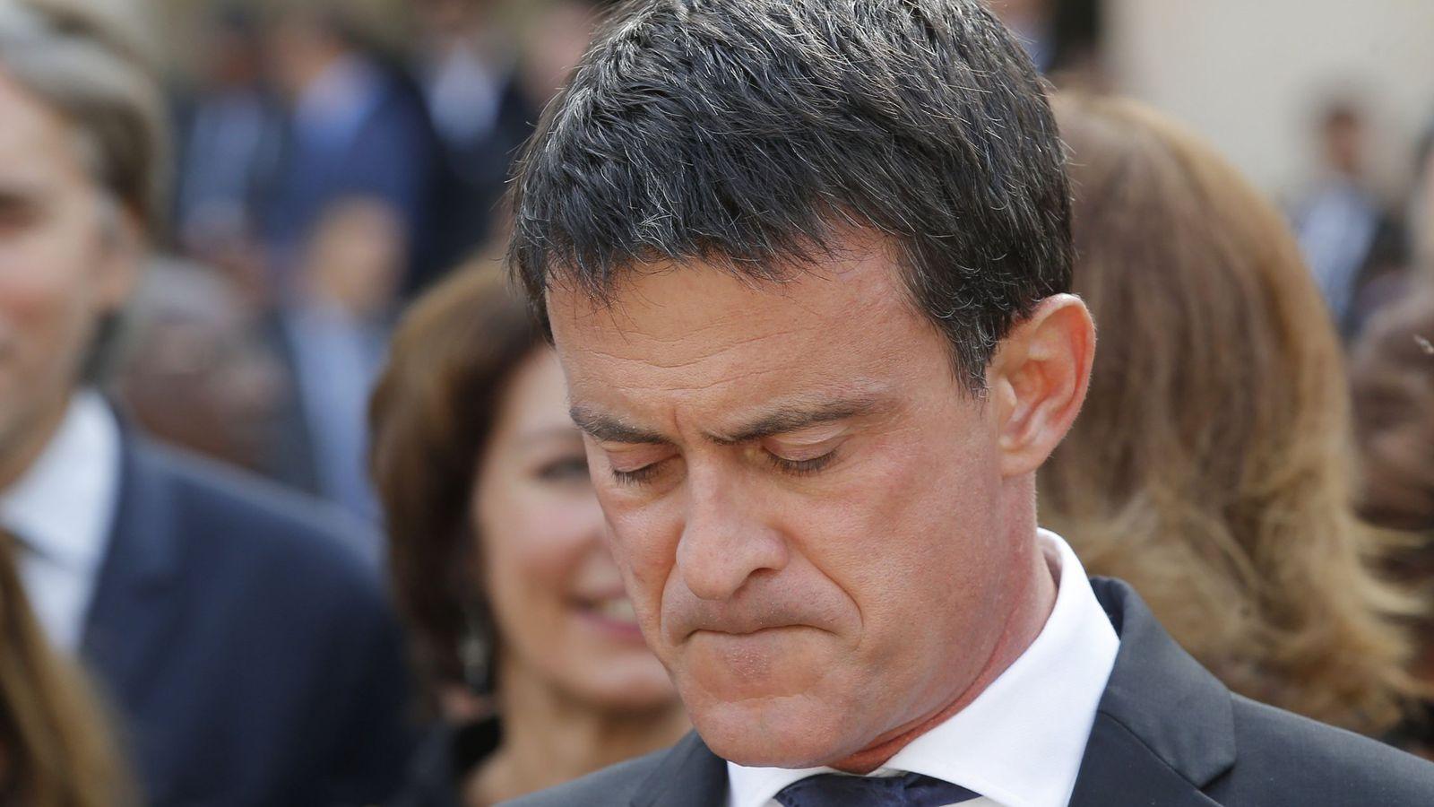 """Foto: El exprimer ministro francés, Manuel Valls, muestra su """"inquietud"""" por la situación catalana"""