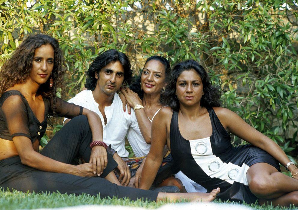 Foto: Rosario, Antonio, Lola Flores y Lolita, en una imagen de archivo (Gtres)