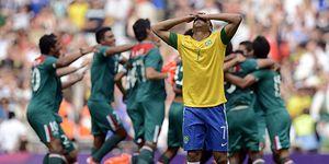 México da la sorpresa y deja a Brasil si el oro en fútbol