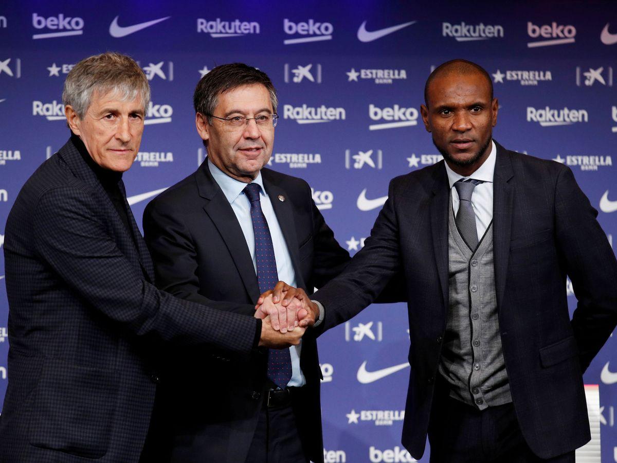 Foto: Quique Setién durante su presentación como entrenador del Barcelona. (Reuters)