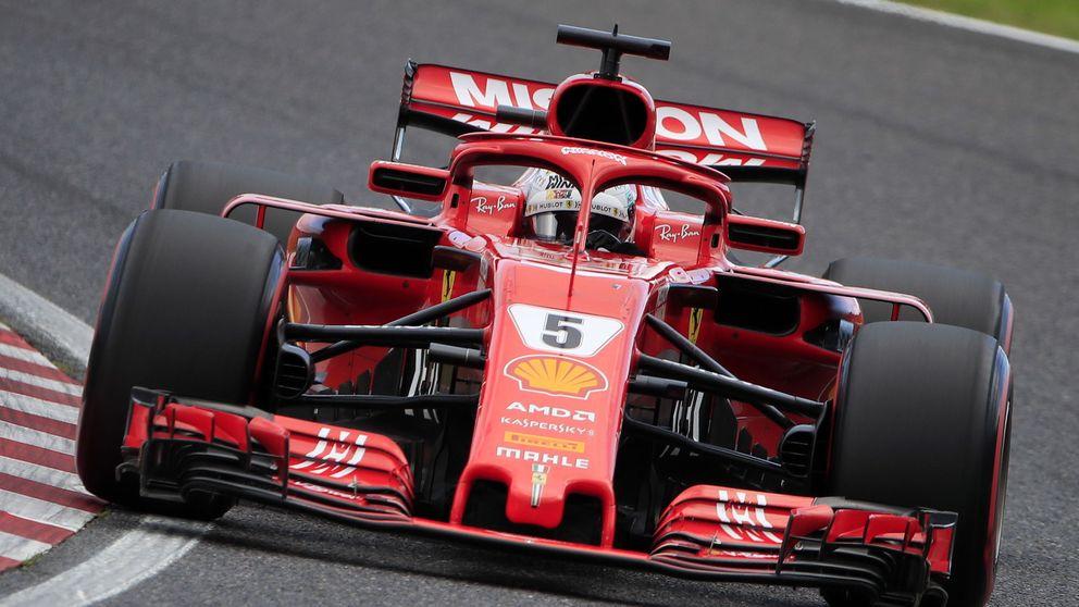 El ridículo espantoso de Ferrari y Vettel en Japón (uno más) en el peor momento