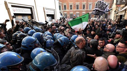 Sexto día de huelga de los taxistas italianos