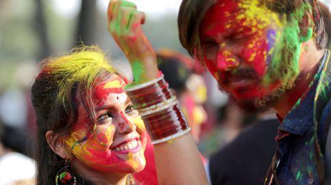 Todo preparado para el festival Holi en la India