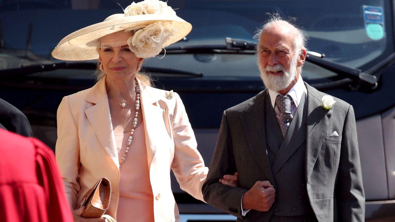 Los príncipes Michael de Kent, en la boda de Harry y Meghan. (Reuters)