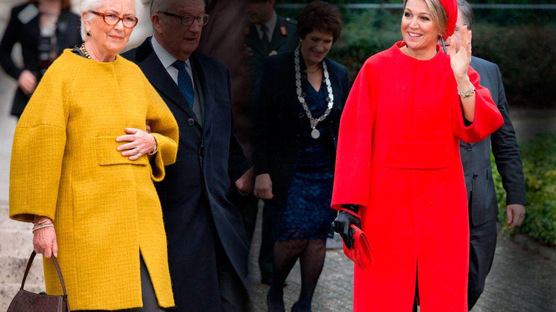 Foto: La reina Paola y la reina Máxima en un montaje realizado por Vanitatis