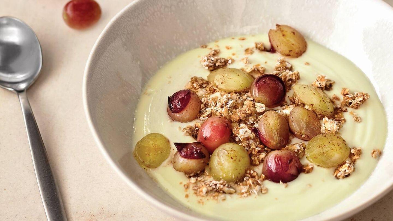 Uvas con yogur casero. (APTC)