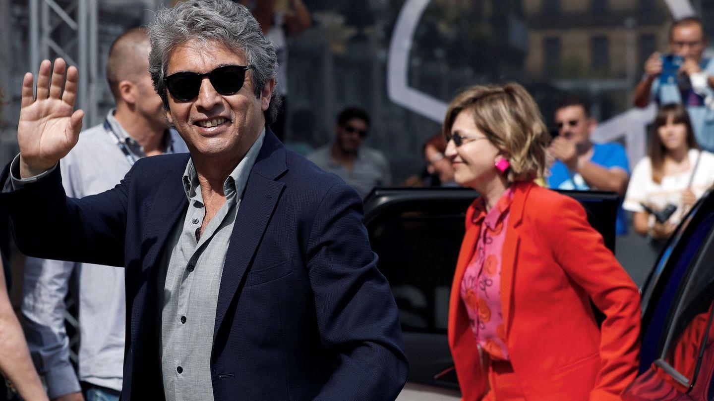 Ricardo Darín y Mercedes Morán a su llegada al Festival de Cine de San Sebastián. (EFE)