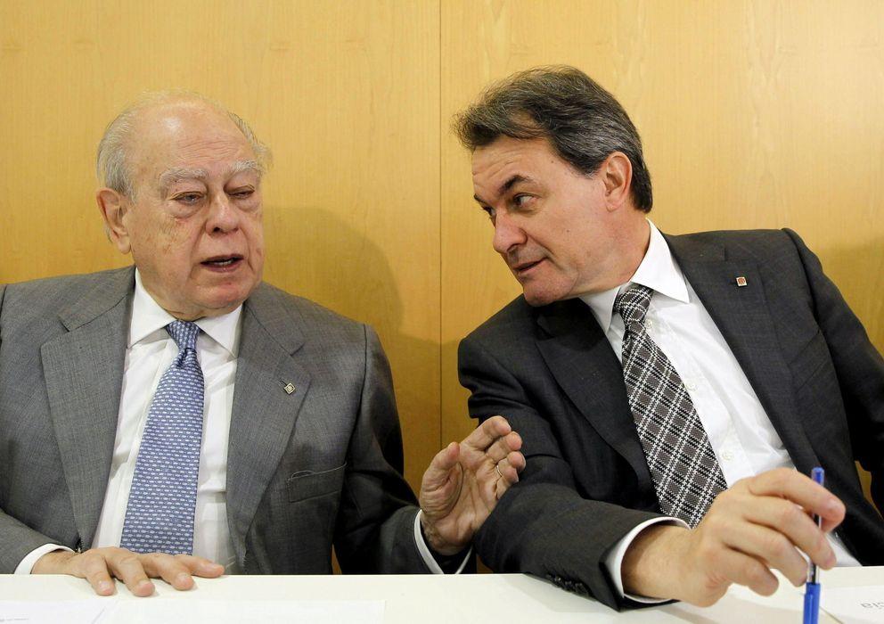 Foto: Pujol y Mas, durante la Ejecutiva de CDC en abril. (Efe)