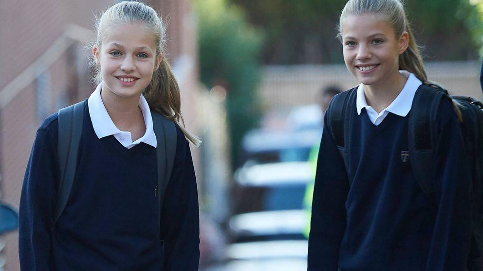 Leonor y Sofía asisten a clase tras el caso de coronavirus en su colegio