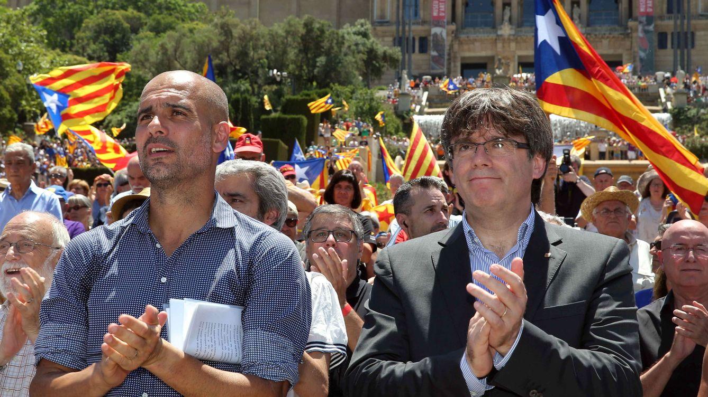 La carta de Guardiola a favor del 1-O la pagó la Generalitat y se fabricó en EEUU