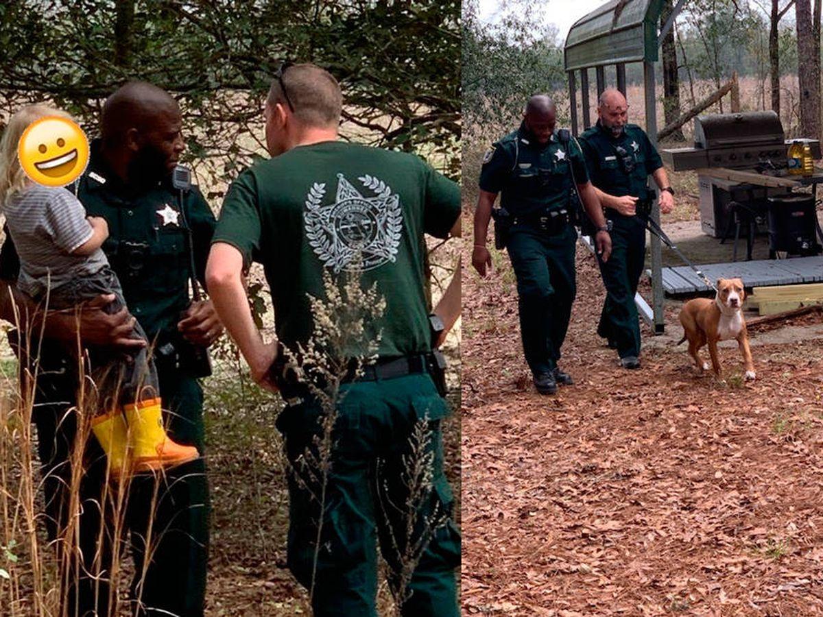 Foto: Buddy se encargó de que nadie se acercara al niño hasta que llegó la policía (Foto: Facebook)