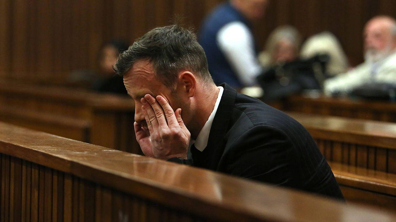 Foto: Oscar Pistorius en una imagen del juicio de este miércoles (Gtres)
