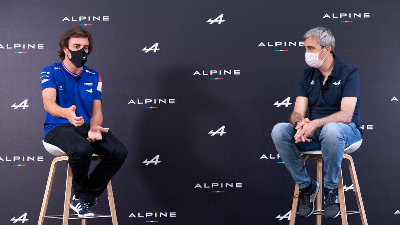 Alonso acudió a Barcelona para acompañar a la convención de los concesionarios de su red