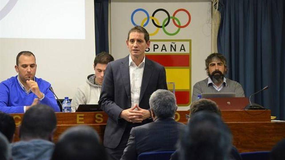 Foto: David Cabello, durante la última Asamblea de la FESBA.