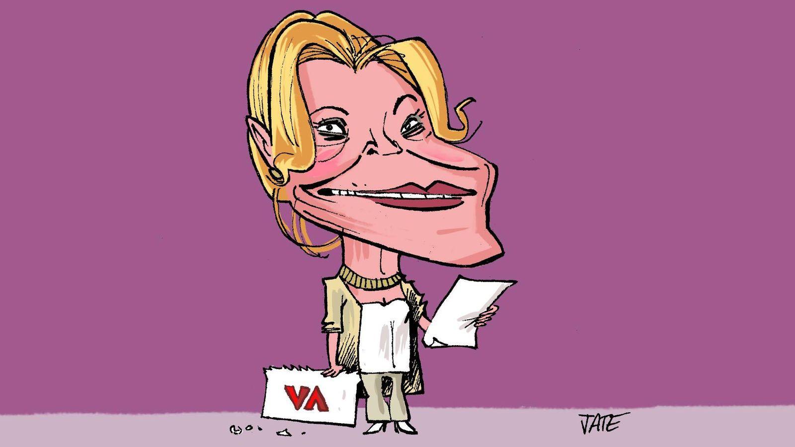 Foto: Carmen Cervera. Ilustración realizada por Jate para Vanitatis.