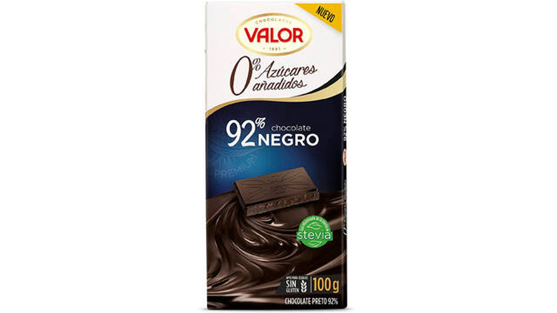 Chocolate Valor con 92 % de pureza