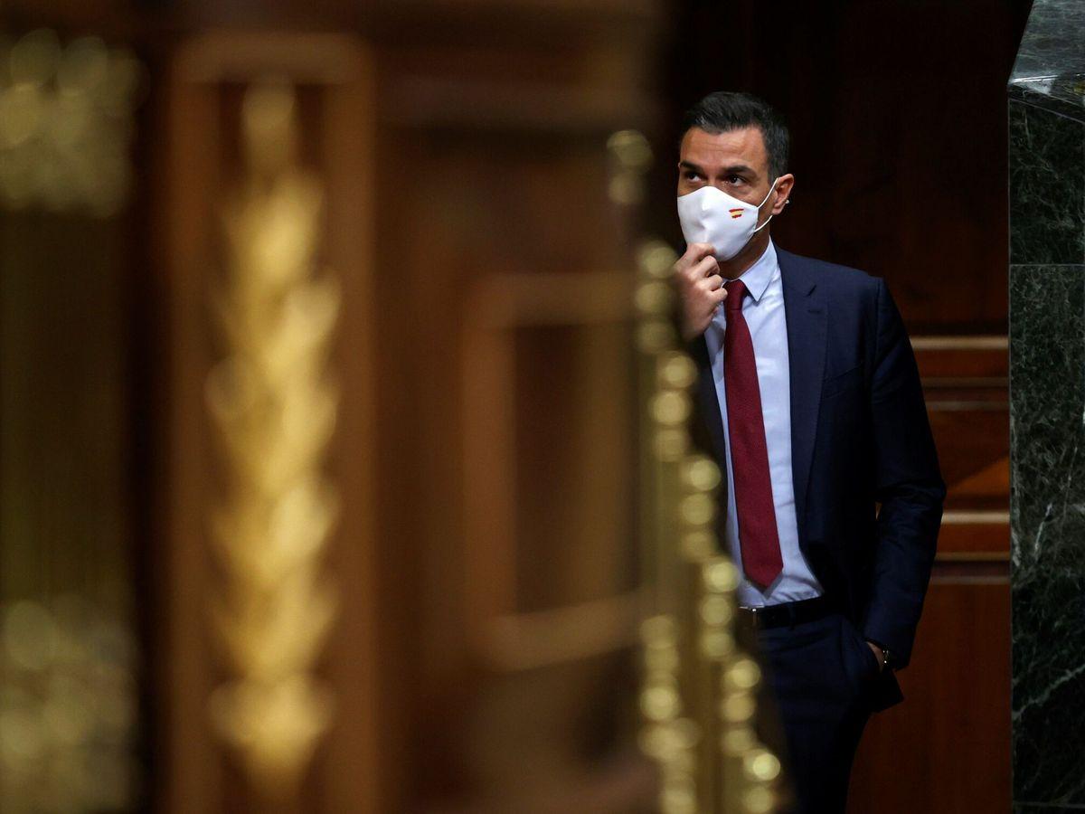 Foto: Pedro Sánchez, hoy en el Congreso de los Diputados. (EFE)