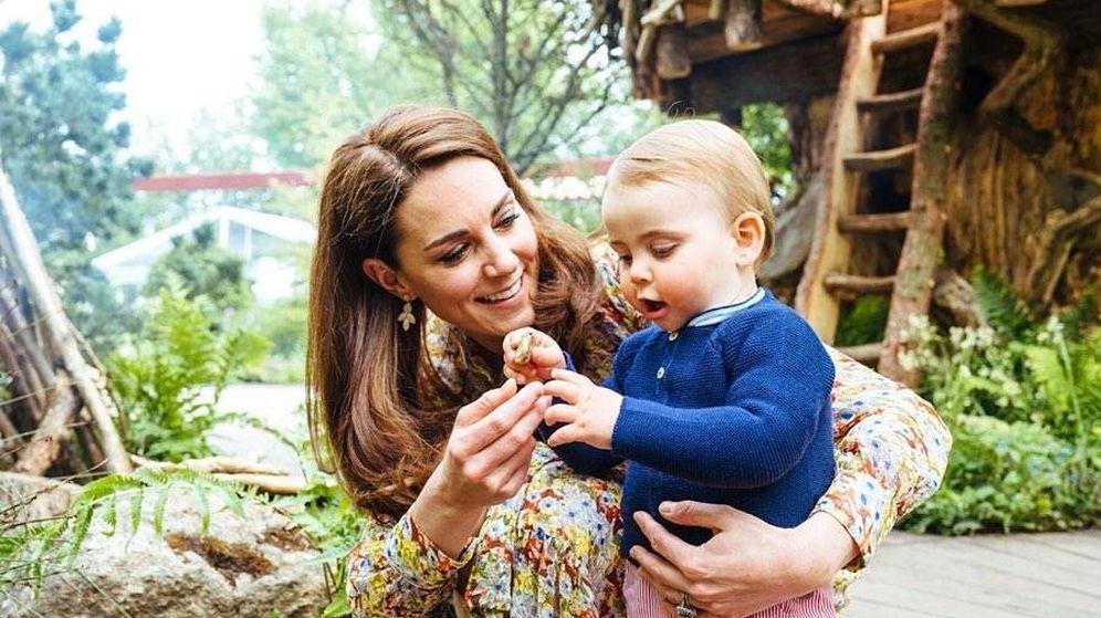 Foto: Kate Middleton y el príncipe Louis. (IG Kensington Palace)