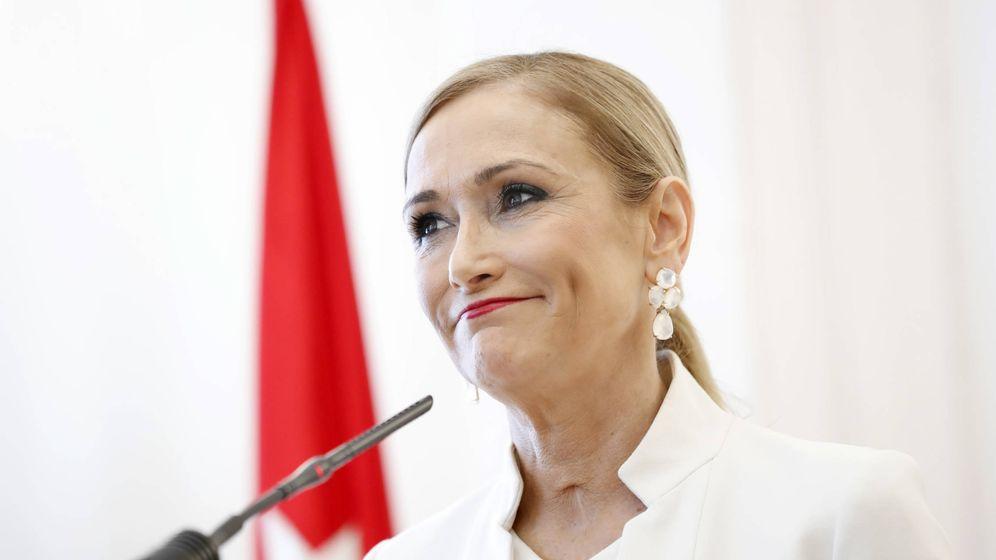 Foto: Cristina Cifuentes el día de su dimisión como presidenta de la Comunidad de Madrid. (Gtres)