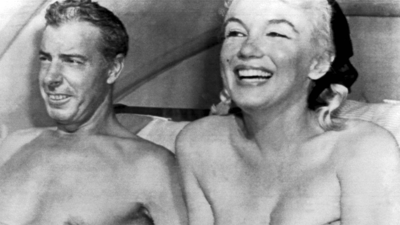 Joe DiMaggio y Marilyn Monroe, de vacaciones en Florida. (Foto de archivo)