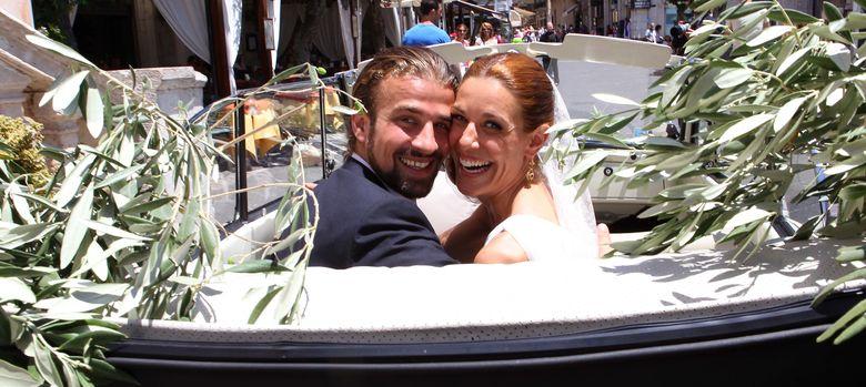 Foto: Rachel Sanchez Silva y Mario Biondo, en una imagen de su boda (I.C.)