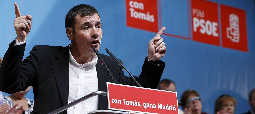 Foto: Tomás Gómez, destituido este miércoles por Pedro Sánchez, durante un mitin del PSM. (Efe)