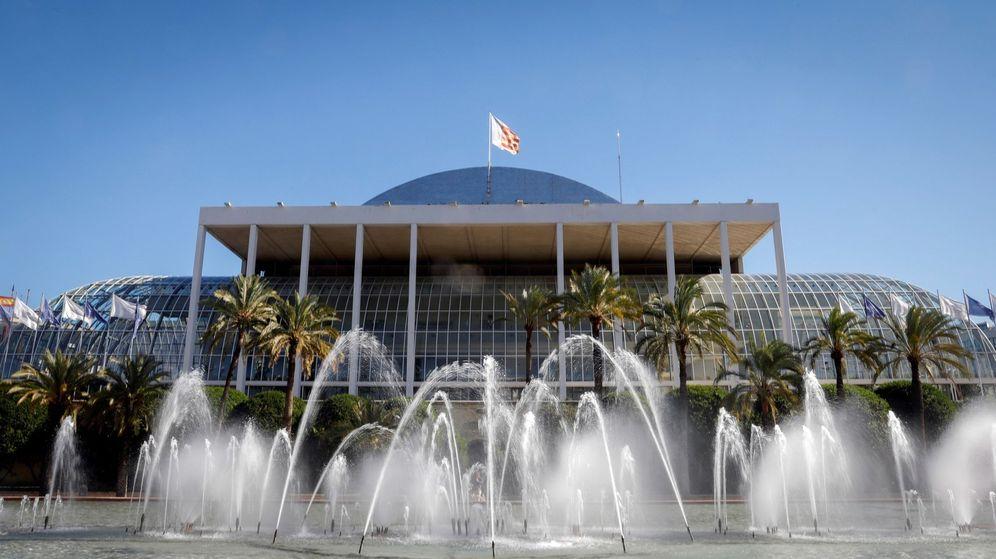 Foto: Vista del Palau de la Música de Valencia desde el jardín del Turia. (EFE)