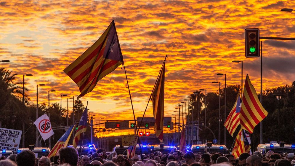 Foto: Protesta independentista en Barcelona. (EFE)