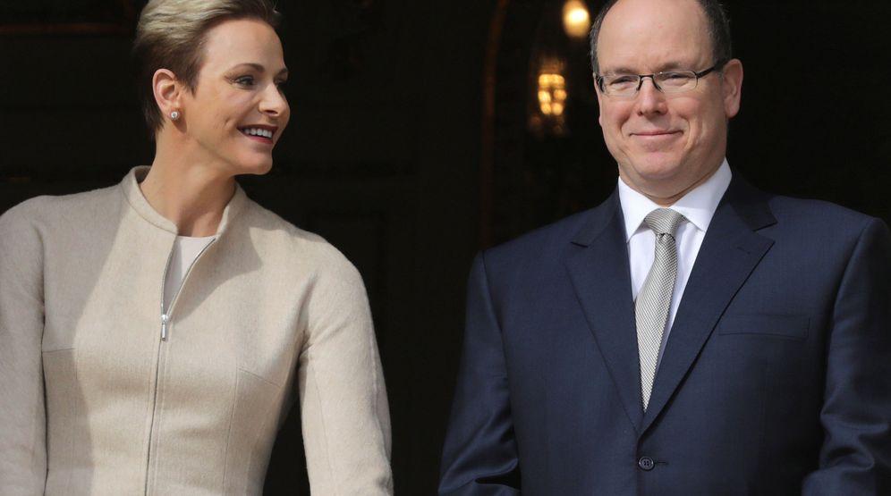 Foto: Alberto y Charlène en una imagen del pasado mes de enero. (Reuters)