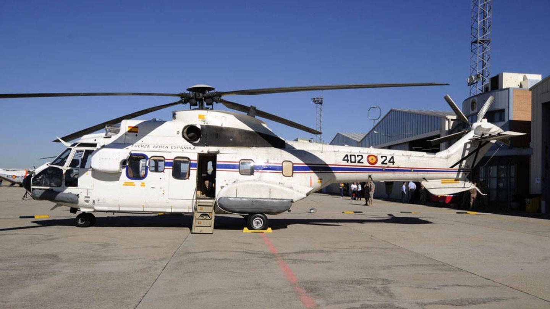 Uno de los Super Puma del 402 Escuadrón, estacionado en Cuatro Vientos. (EFE)