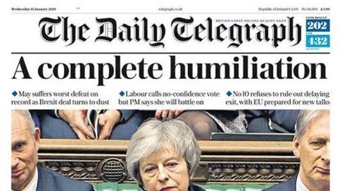 La derrota histórica de Theresa May en la votación den Brexit, protagonista de la prensa