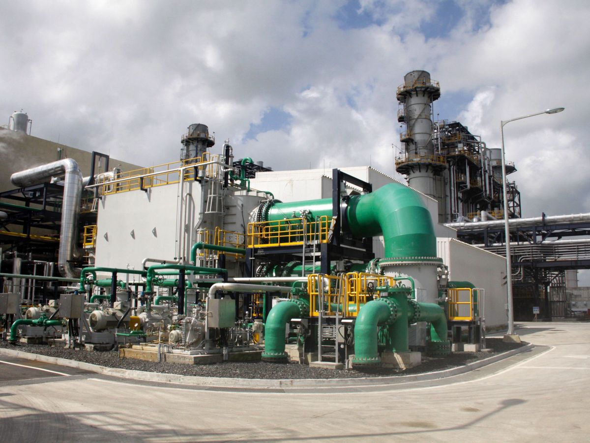 Foto: Imagen de una planta de GNL.
