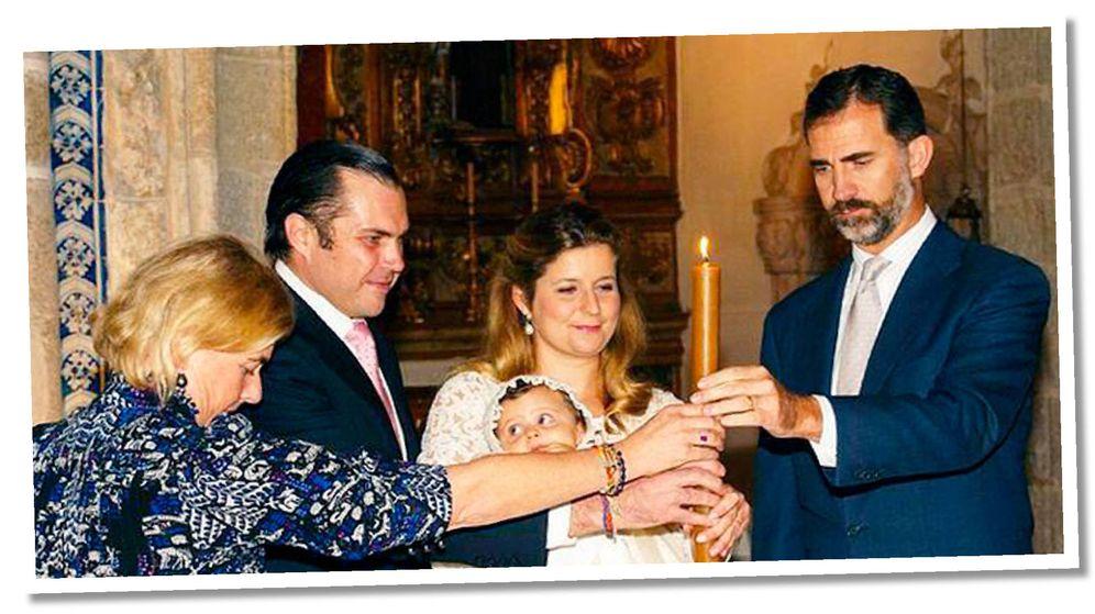 Foto: El rey Felipe, en el bautizo de la princesa Isabelle de Orleans. (Casa Real)