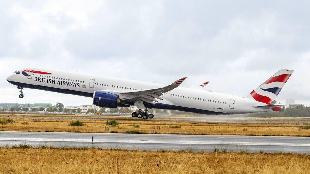 Foto: Un A350 entregado a British Airways. (Airbus)