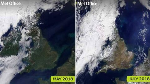 Reino Unido ya no es verde desde el espacio: la culpa es de la sequía y el calor