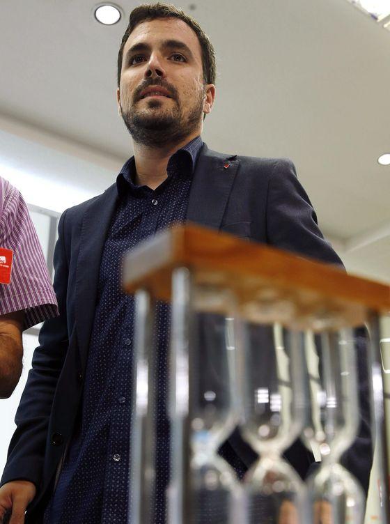 Alberto Garzón, durante la reunión del Consejo. (EFE)
