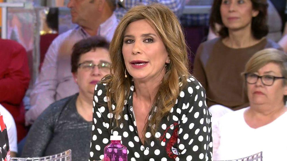 Foto: Gema López en 'Sálvame'. (Mediaset España)