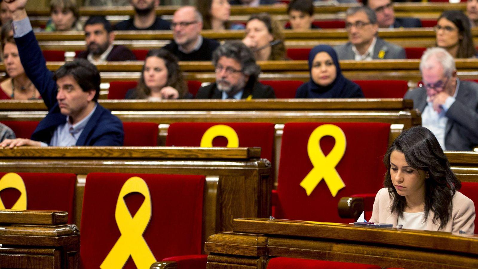 Foto: Debate en el Parlamento de Cataluña. (EFE)