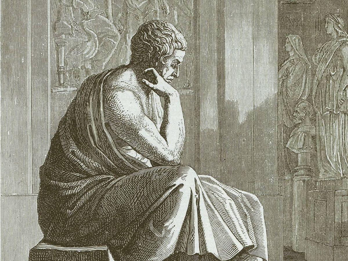 Foto: Ilustración de Aristóteles publicada en 1882 (Fuente: iStock)