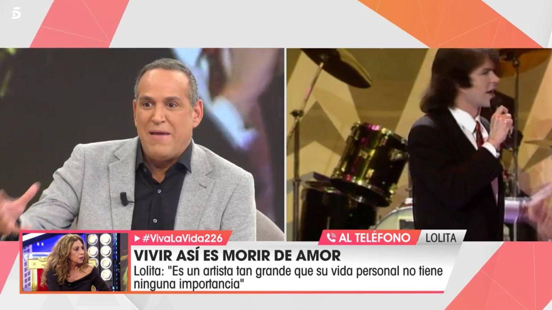 Lolita Flores, por teléfono, en 'Viva la vida'. (Telecinco)