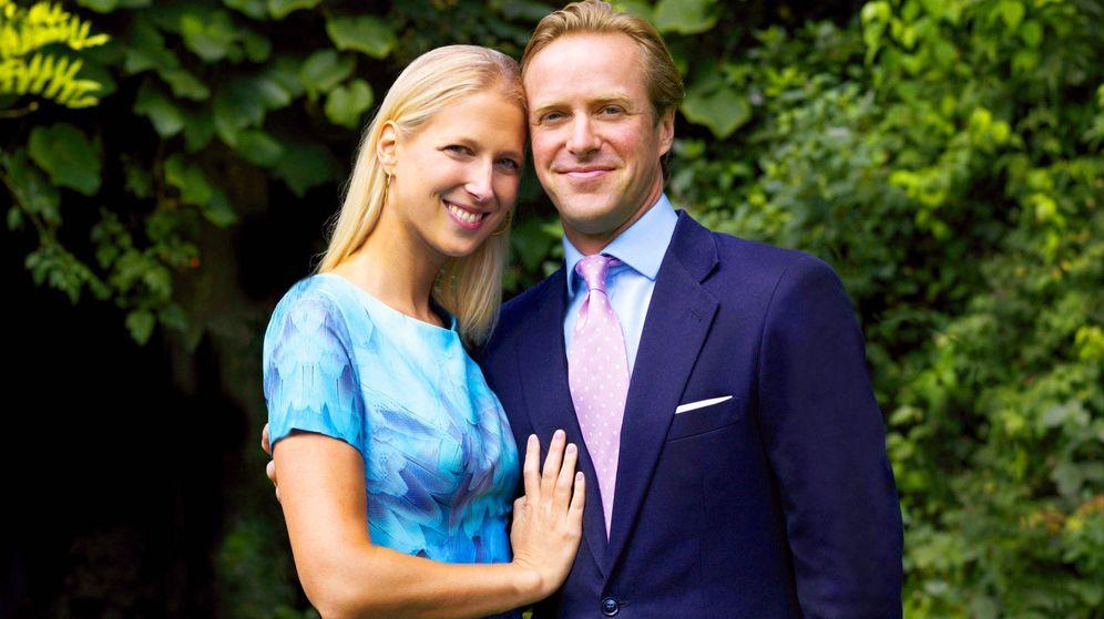 Foto: Lady Gabriella Windsor y su futuro marido, Thomas Kingston. (Getty)
