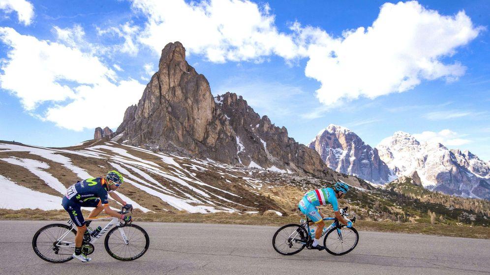 Foto: Valverde y Nibali en un descenso durante el pasado Giro de Italia. (EFE/EPA)