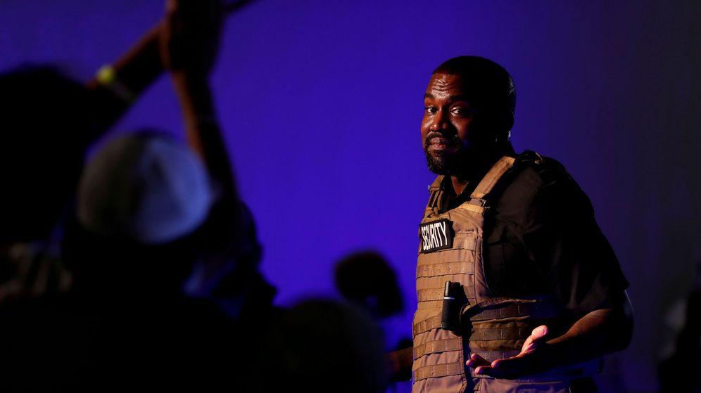 Foto: Kanye West en su primer mitin para la candidatura a la Presidencia de EE.UU. Foto: Reuters