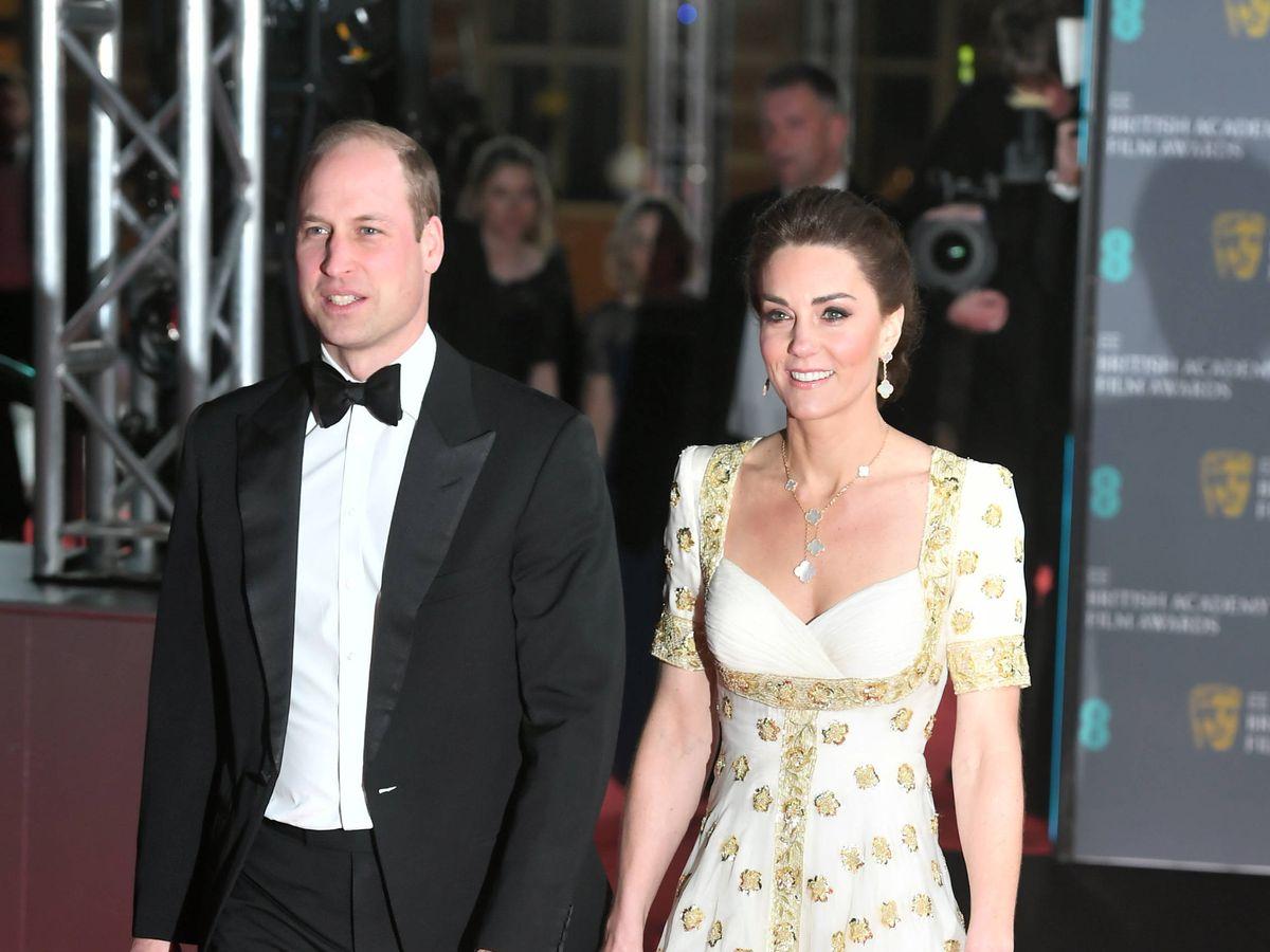 Foto: Los duques de Cambridge, en los Bafta. (Getty)
