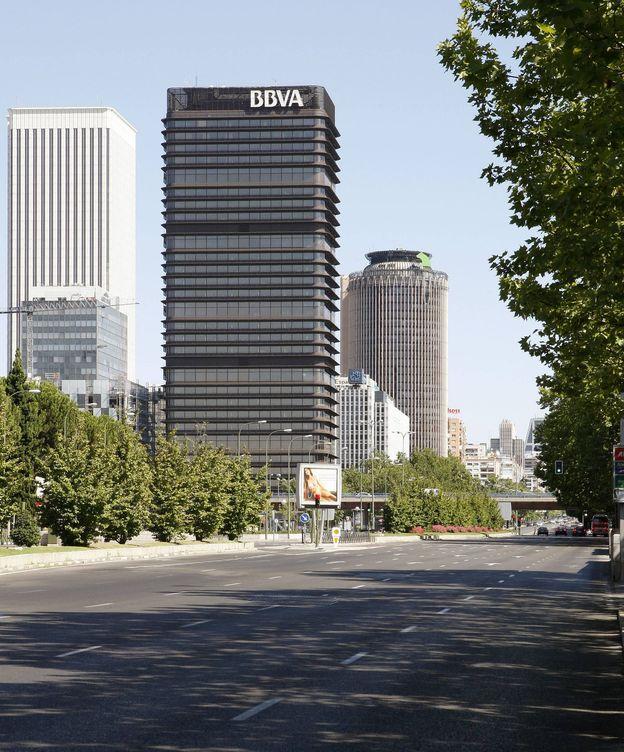 Foto: Paseo de la Castellana de Madrid, a la altura del complejo financiero de Azca. (EFE)