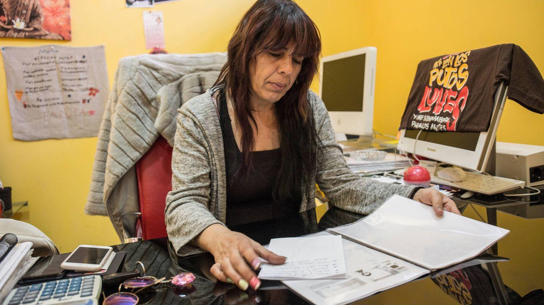 Mari Paz Pozo, dueña de la inmobiliaria Orión, en su despacho. (D.B.)