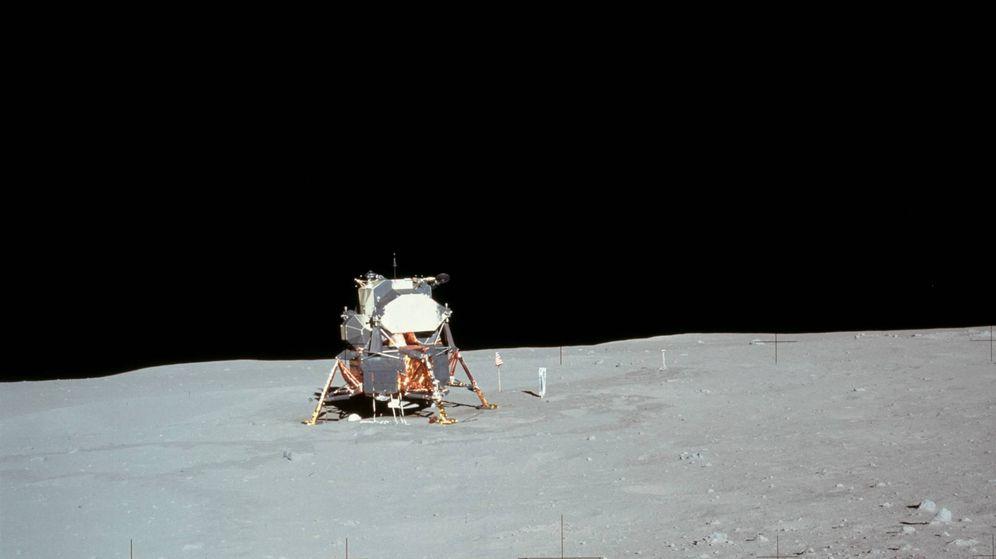 Foto: Neil Armstrong en la luna. (Mediapro)