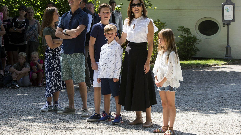 La familia heredera en la Ringriderforening. (Getty Images)