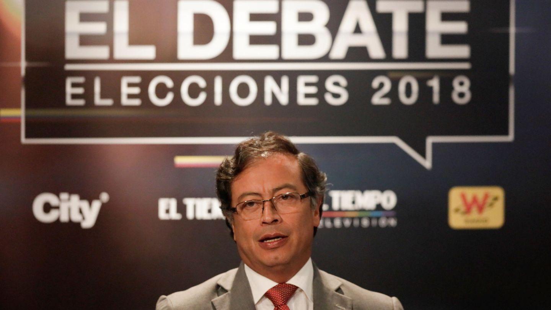 Gustavo Petro durante un debate en Bogotá, Colombia, el 24 de mayo de 2018. (Reuters)